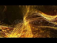 Digital Abstract Gold Sparkling Particles 01 Motion Graphics