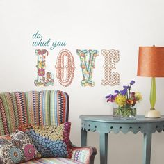 A Love inspired wall quote #valentines #decorideas #wallpops