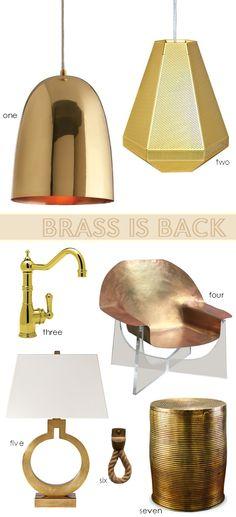 Brass - Interior Design Trend #interiordesign #brass #designtrends