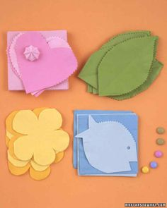 Paper napkins can be cut out with regular, pinking, or scalloping scissors to…