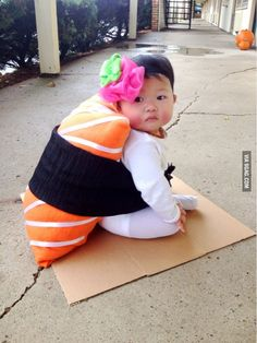 Newest 27 Halloween Costumes for Babies Baby Sushi Costume, Cute Baby Costumes, Halloween Costumes For Kids, Costumes For Babies, Sushi Halloween Costume, Cute Asian Babies, Asian Kids, Cute Babies, Baby Boys