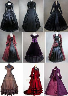 I want to go back in time just for the dresses 😍 Pretty Outfits, Pretty Dresses, Beautiful Dresses, Gothic Dress, Lolita Dress, Lolita Goth, Dress Outfits, Fashion Dresses, Prom Dresses