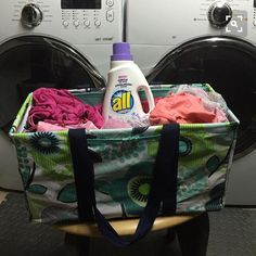 Who needs a laundry basket when you have Thirty-One's large utility tote?!