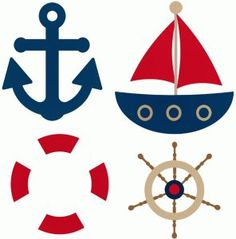 I think I'm in love with this shape from the Silhouette Design Store! Sailor Party, Sailor Theme, Sailor Baby Showers, Baby Boy Shower, Nautical Party, Nautical Bunting, Nautical Anchor, Silhouette Design, Boat Silhouette