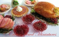 OOAK ARTIST 112 Bowl Whole Cranberry Sauce by CrownJewelMiniatures, $14.99