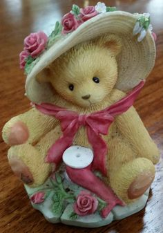 Cherished Teddy Janet Figurine with floral by www.shellysselectsalvage.etsy.com $8