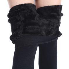 NORMOV Women's Winter Plus Cashmere Leggings Fashion Big Size Warm Super Elastic Faux Velvet Winter Thick Slim Leggings  Price: 4.93 USD