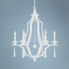 "Parson 26"" Wide Wet White Chandelier -"