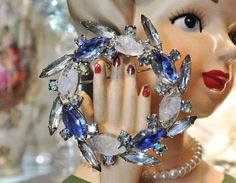 Hey, I found this really awesome Etsy listing at https://www.etsy.com/listing/246728069/rhinestone-brooch-givre-glass-1960s-60s