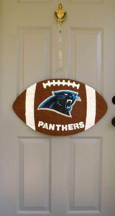 South Carolina Panthers Burlap Door And Wall Hanger. $35.00, Via Etsy.