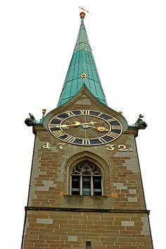 Switzerland-00083 - Fraumünster Church Tower | by archer10 (Dennis) 145M Views Chateaus, Cathedrals, Pilgrimage, Big Ben, Clocks, Switzerland, Castles, My Photos, Tower
