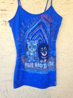 Custom Clothing Designs, We Draw Your Pets On Clothing, Hand Drawn Clothing, Personalized T-shirts, Personalized Tank Tops,Ladies Tank Top by DesigningInTheDesert on Etsy