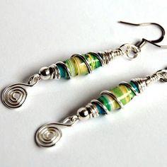 More paper bead earrings