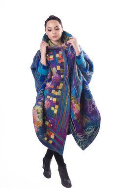#handmade #wool #felted #coat #overcoat by Nadin Smo design