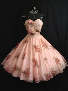 1950's Pink Party Dress. Mrs. Aris goes to Paris. Dior.