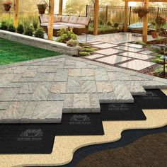 How To Make Cement Patio Pavers.Veneering A Older Concrete Patio With Pavers And Building . Furniture: Large Cement Pavers New Create A Stylish Patio . Patio Blocks Make Your Own Soil Cement Diy Pavers. Home and Family Concrete Patios, Cement Patio, Brick Patios, Patio With Pavers, Stone Patios, Concrete Slab, Patio Pavé, Backyard Patio Designs, Backyard Landscaping