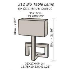 Lámpara de Mesa Bio 312 - Emmanuel Lussot Luminaria Diy, Recycled Decor, Architecture 3d, Solar Powered Lights, Wooden Lamp, Lamp Design, Creative Crafts, Wood Art, Lamp Light