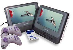 Salora DVP9048TWIN - Portable DVD-speler met 2 schermen - 9 inch