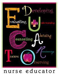 Describes the many responsibilities of nurse educators