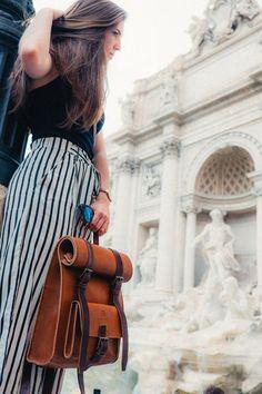 Women's Leather BackpackRucksack Shoulder Bag Handmade