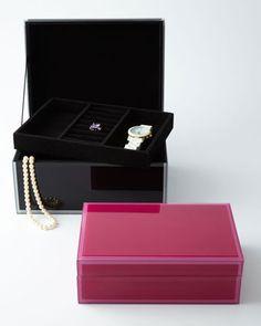 Small Glass Jewelry Box - Wolf Designs