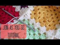 Transcendent Crochet a Solid Granny Square Ideas. Inconceivable Crochet a Solid Granny Square Ideas. Connecting Granny Squares, Joining Crochet Squares, Crochet Blocks, Granny Square Crochet Pattern, Crochet Stitches Patterns, Crochet Granny, Knitting Patterns, Granny Square Tutorial, Sunburst Granny Square