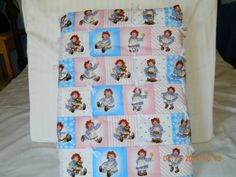 Classic Raggedy Ann Tied Baby Quilt by AlesasInspirations on Etsy, $95.00
