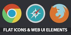35 Flat Icons and Web Elements for UI Design | Freebies | Graphic Design Junction
