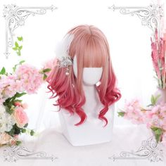 My Lolita Dress is a platform to shop the branded top quality but cheap Lolita dresses, including sweet Lolita dresses, Gothic Lolita dresses and much more. Kawaii Hairstyles, Pretty Hairstyles, Wig Hairstyles, Pastel Wig, Pink Wig, Anime Wigs, Anime Hair, Japanese Short Hair, Kawaii Wigs