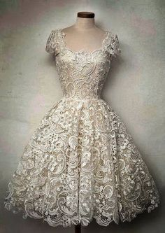 i love this dress all the lace and the love the neck with the sleeves was a classic vintage look i adore the lace thigh