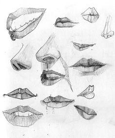 mouths, in sketchbook // Allison Ranieri Sketch Mouth, Mouths, Lips, Drawings, Illustration, Art, Art Background, Kunst, Sketches