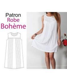 """Patron robe """"Bohème"""""""