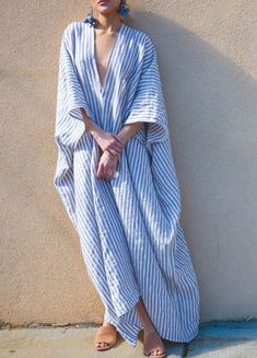 Embroidery Fashion, Fashion Project, Striped Linen, Linen Dresses, Fashion Outfits, Womens Fashion, Boho Dress, Spring Summer Fashion, Clothes For Women