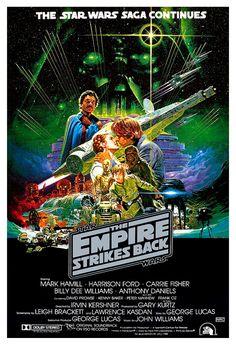 The Empire Strikes Back - Darth Vader - Stormtroopers - Lando -13x19 Classic Sci Fi Movie Poster Art - Starwars Han Solo R2D2 C3PO