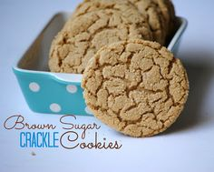 Brown Sugar Crackle Cookies--amazing bites of butter and sugar--seriously how can you go wrong!
