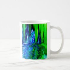 #photo - #Melted Glitch (Blue & Green) Coffee Mug
