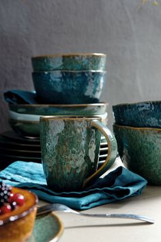 Leonardo Matera beker 43cl - blauw kopen?   Woldring Noodle Bowls, Rice Bowls, Cereal Bowls, Salad Bowls, Pasta Bowl Set, Soup Bowl Set, Diamond Ice, Dessert Bowls, Stoneware