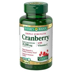 Nature's Bounty Cranberry Vitamin C Softgels - 60 Count