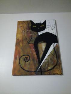"""Ma minette"" Acrylique de Marie Da Cruz Vendue"