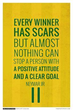 """Neymar Quote on Print. See more at www.finesportsprints.com #neymar #sportsquote #barcelona"""