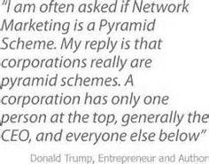 Donald Trump on Pyramid Schemes