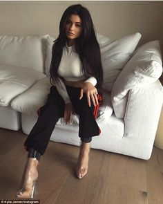 """Get into gear like Kylie with a pair of Adidas track pants  Click """"Visit"""" to buy #DailyMail"""