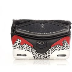 Alexander Wang Stingray Colorblock Sneaker Clutch Bag (7.810 ARS) ❤ liked on Polyvore featuring bags, handbags, clutches, black, genuine leather handbags, black clutches, color block handbag and real leather purses