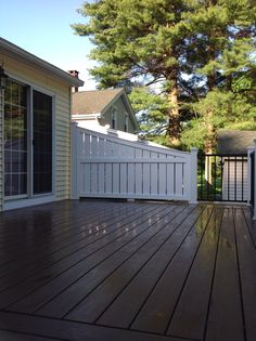 Vinyl Deck Privacy Deck Privacy Made From Azek. Trex Reveal Railing. Azek  Acacia Decking