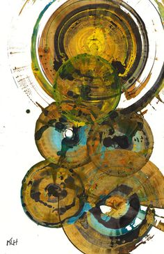 Modern Abstract ORIGINAL Painting  Round by AbstractXpressionism, $45.00  Oh la la, my lovely sphere painting!