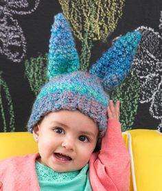 Fluffy Bunny Hat Free Crochet Pattern from Red Heart Yarns