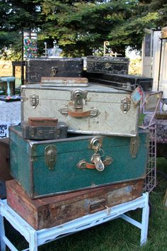 Trunks & Metal boxes  Vintage Country Flea Market in Willows