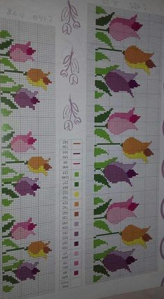 Here you can look and cross-stitch your own flowers. Cross Stitch Rose, Cross Stitch Borders, Cross Stitch Flowers, Cross Stitch Charts, Cross Stitch Designs, Cross Stitching, Cross Stitch Patterns, Blackwork Embroidery, Cross Stitch Embroidery