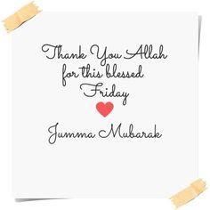 Jumma Mubarak :)