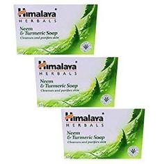 Himalaya Herbals Neem and Turmeric Soap, 125g (Pack of 3)